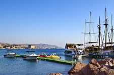 Free View On Docked Yachts In Eilat, Israel Royalty Free Stock Photography - 19884327