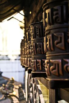 Free BUDDHIST PRAYER WHEELS Royalty Free Stock Images - 19884359