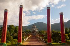 Free Pillars In Front Of Chi Kong Temple Royalty Free Stock Image - 19884546