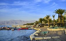 Free View On Sand Beach Of Eilat, Israel Stock Image - 19884591