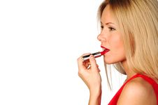 Free Woman Red Lipstick Stock Photography - 19884652