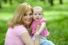 Free Mother And Daughter In Birch Spring Park Royalty Free Stock Photos - 19884688