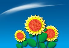 Free Gold Color Sunflower Royalty Free Stock Photos - 19884838