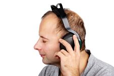 Free Young Man In Headphones Stock Image - 19885991