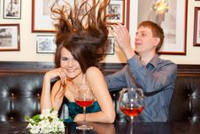 Romantic Couple Having Dinner Stock Image