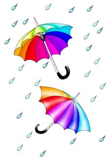 Free Colored Umbrellas. Royalty Free Stock Images - 19886119