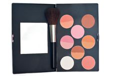 Free Blush And Brush For Makeup Royalty Free Stock Photo - 19886285