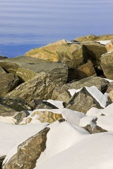 Free Rocks, Boulders And Snow Stock Image - 19887501