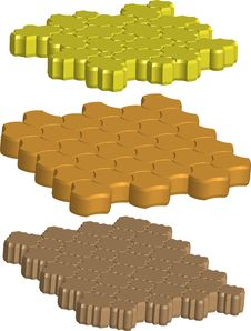 Free Bricks For Sidewalk Royalty Free Stock Images - 19887619