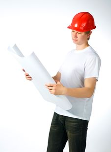 Free Portrait Of A Builder Stock Image - 19887861
