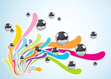 Abstract Background With Metal Balls Stock Image