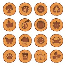 Free Eco And Environment Icons Set Royalty Free Stock Photo - 19889055