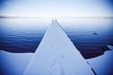 Free Snow Covered Pier Stock Photo - 19889810