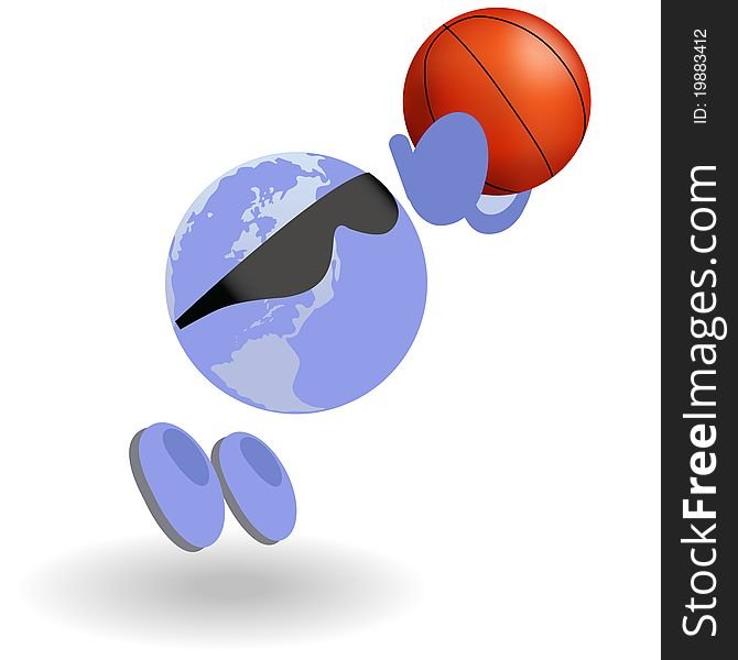 The round man and basketball