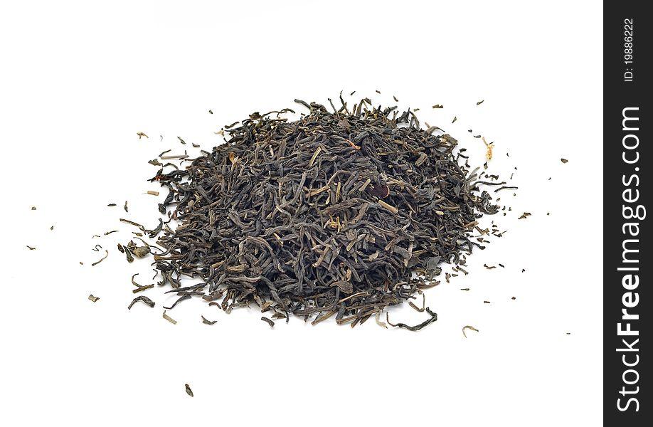 Dried green tea