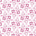 Free Seamless Vector Background With Hand-drawn Hearts Stock Photos - 19891593
