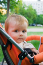 Free 1 Year Old Girl  In Baby Carriage Royalty Free Stock Photography - 19897577