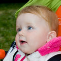 Free 1 Year Old Girl  In Baby Carriage Royalty Free Stock Images - 19897629