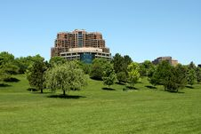 Free Highrise And Large Green Space Stock Images - 19890364
