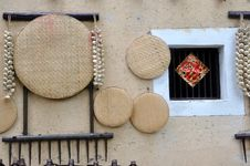 House Wall And Living Stuff In Chinese Countryside Royalty Free Stock Photo