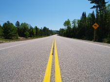 Free Empty Highway Royalty Free Stock Images - 19890869