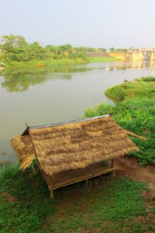Free Bamboo Hut On Riverside Stock Photo - 19891270