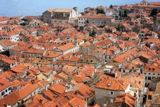 Free The View Of Red Rooftops Of Dubrovnik Royalty Free Stock Images - 19891579