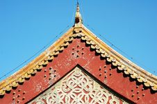 Free Roof Of A Ancient Temple In China. Royalty Free Stock Photos - 19892208