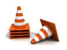 Free Orange Road Cones Stock Images - 19892714