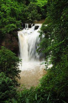 Waterfall In Khao Yai National Park Royalty Free Stock Image