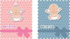 Free Baby Arrival Cards Royalty Free Stock Photo - 19893095