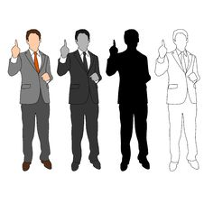 Free Business Man Style Set 04 Royalty Free Stock Photography - 19893687