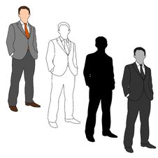 Free Business Man Style Set 05 Royalty Free Stock Images - 19893689