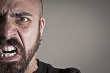 Free Mid-frontal Portrait Of A Man Yelling Royalty Free Stock Images - 19894269