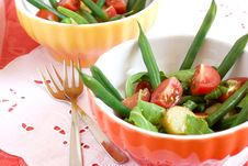 Salad With Bean Royalty Free Stock Images