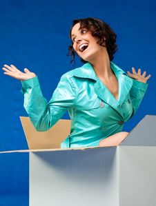 Free Female Out Of The Box Stock Images - 19894734
