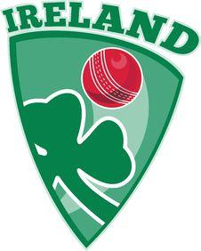 Cricket Ball Shamrock Shield Ireland Stock Photography