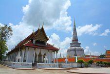 Free Great Pagoda Of Nakorn Sri Thammarat Royalty Free Stock Photo - 19896855
