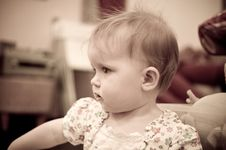 Free Little Baby Girl Playing In  Room Stock Photos - 19897523