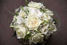Free Wedding Bouquet With Two Rings Stock Photo - 19897740