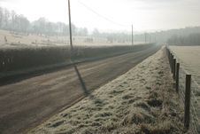 Free Misty Monring On A Rural Road Royalty Free Stock Photos - 1990398
