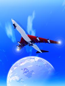Free Plane Flying 71 Royalty Free Stock Photo - 1991865
