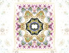 Free Sponge Technique Illustration Of A Antique Carpet-like Pattern Royalty Free Stock Images - 1992009