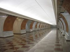 Free A Modern Subway Station Royalty Free Stock Images - 1992279
