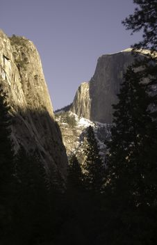 Half Dome Winter Morning
