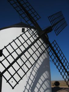 Free White Windmill Stock Photos - 1992823