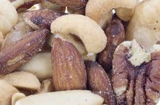 Nuts Background Royalty Free Stock Images