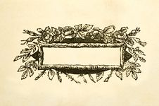 Free Blank Floral Victorian Title Box Stock Images - 1994484