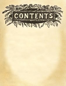 Free Contents Title Design Royalty Free Stock Image - 1994496