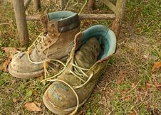 Free Worn Work Boots Royalty Free Stock Images - 1994789